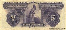 2 Quetzales GUATEMALA  1942 P.015a TB