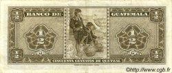 50 Centavos de Quetzal GUATEMALA  1967 P.051 TTB+
