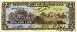 50 Centavos de Quetzal GUATEMALA  1968 P.051 TTB