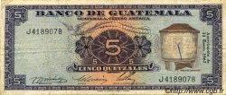 5 Quetzales GUATEMALA  1967 P.053 TB