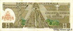 50 Centavos de Quetzal GUATEMALA  1974 P.058b TTB+