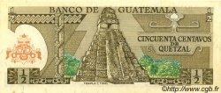 50 Centavos de Quetzal GUATEMALA  1977 P.058b SPL