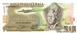 50 Centavos de Quetzal GUATEMALA  1982 P.058c pr.NEUF