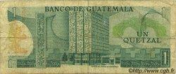 1 Quetzal GUATEMALA  1972 P.059c B à TB