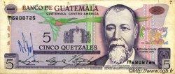 5 Quetzales GUATEMALA  1976 P.060b TB