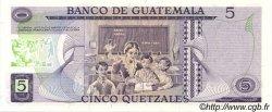 5 Quetzales GUATEMALA  1983 P.060c NEUF