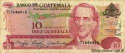 10 Quetzales GUATEMALA  1981 P.061c TB