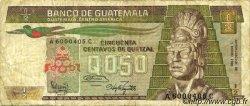 50 Centavos de Quetzal GUATEMALA  1983 P.065 TB