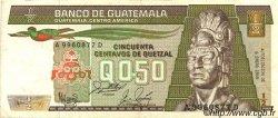 50 Centavos de Quetzal GUATEMALA  1983 P.065 TTB