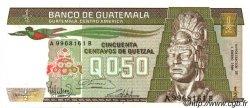 50 Centavos de Quetzal GUATEMALA  1986 P.065 NEUF