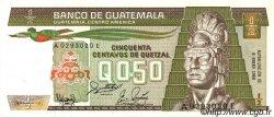50 Centavos de Quetzal GUATEMALA  1988 P.065 NEUF