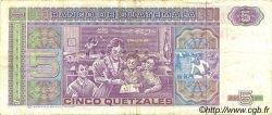5 Quetzales GUATEMALA  1987 P.067 TTB