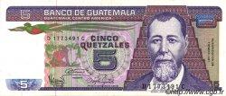 5 Quetzales GUATEMALA  1987 P.067 SUP