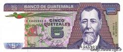 5 Quetzales GUATEMALA  1988 P.067 NEUF