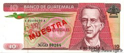 10 Quetzales GUATEMALA  1983 P.068s SPL