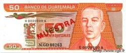 50 Quetzales GUATEMALA  1983 P.070s SPL