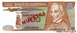100 Quetzales GUATEMALA  1983 P.071s SPL