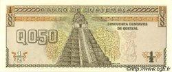 50 Centavos de Quetzal GUATEMALA  1989 P.072a NEUF