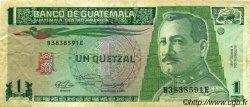 1 Quetzal GUATEMALA  1990 P.073 pr.TTB