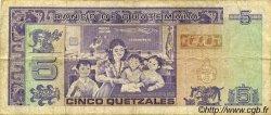 5 Quetzales GUATEMALA  1992 P.074 TB