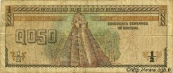 50 Centavos de Quetzal GUATEMALA  1992 P.079 pr.TB