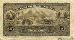5 Pesos GUATEMALA  1917 PS.112b TTB+