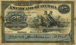 25 Pesos GUATEMALA  1913 PS.113 TB