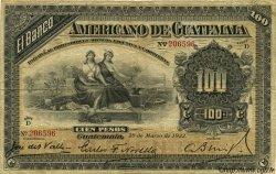 100 Pesos GUATEMALA  1922 PS.114a TB