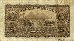 5 Pesos GUATEMALA  1923 PS.117 TTB