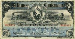 5 Pesos GUATEMALA  1915 PS.143c TTB