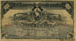 100 Pesos GUATEMALA  1920 PS.147c B+