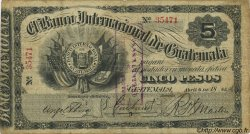 5 Pesos GUATEMALA  1885 PS.154a TB