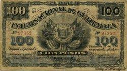 100 Pesos GUATEMALA  1918 PS.160a B+