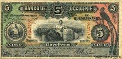 5 Pesos GUATEMALA  1910 PS.176b TB+
