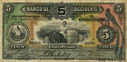 5 Pesos GUATEMALA  1914 PS.176b TB