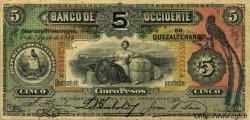 5 Pesos GUATEMALA  1914 PS.176b TTB