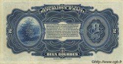 2 Gourdes HAÏTI  1919 P.151 SUP