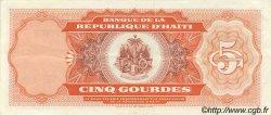 5 Gourdes HAÏTI  1992 P.261 SUP