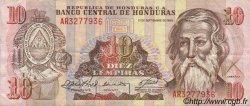 10 Lempiras HONDURAS  1989 P.070a TTB