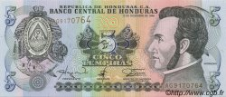 5 Lempiras HONDURAS  1996 P.081 SPL