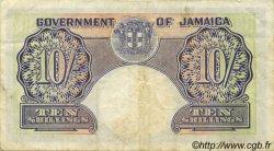 10 Shillings JAMAÏQUE  1958 P.39 TTB
