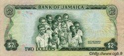 2 Dollars JAMAÏQUE  1970 P.55 TTB+