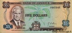 5 Dollars JAMAÏQUE  1970 P.56 TTB à SUP