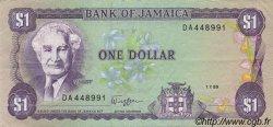 1 Dollar JAMAÏQUE  1989 P.68Ac SUP