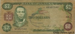 2 Dollars JAMAÏQUE  1986 P.69b TB