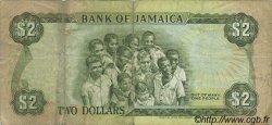 2 Dollars JAMAÏQUE  1987 P.69b TB
