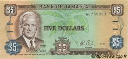 5 Dollars JAMAÏQUE  1985 P.70a NEUF