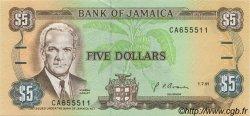 5 Dollars JAMAÏQUE  1991 P.70d SPL