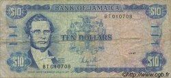 10 Dollars JAMAÏQUE  1987 P.71b TB