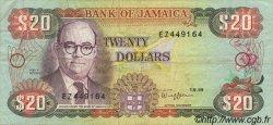 20 Dollars JAMAÏQUE  1989 P.72c TTB